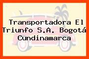 Transportadora El Triunfo S.A. Bogotá Cundinamarca