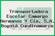Transportadora Escolar Camargo Hermanos Y Cía. S.A. Bogotá Cundinamarca