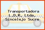 Transportadora L.D.R. Ltda. Sincelejo Sucre