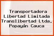 Transportadora Libertad Limitada Translibertad Ltda. Popayán Cauca