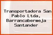 Transportadora San Pablo Ltda. Barrancabermeja Santander