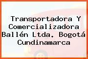 Transportadora Y Comercializadora Ballén Ltda. Bogotá Cundinamarca
