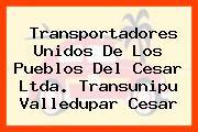 Transportadores Unidos De Los Pueblos Del Cesar Ltda. Transunipu Valledupar Cesar