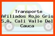 Transporte Afiliados Rojo Gris S.A. Cali Valle Del Cauca