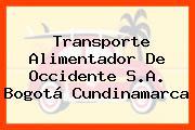 Transporte Alimentador De Occidente S.A. Bogotá Cundinamarca