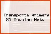 Transporte Arimera SA Acacías Meta