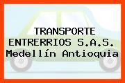 TRANSPORTE ENTRERRIOS S.A.S. Medellín Antioquia