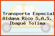 Transporte Especial Aldana Rico S.A.S. Ibagué Tolima