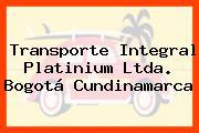 Transporte Integral Platinium Ltda. Bogotá Cundinamarca