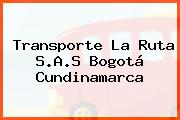 Transporte La Ruta S.A.S Bogotá Cundinamarca