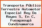 Transporte Público Terrestre Automotor Especial Rey De Reyes S. En C. Fusagasugá Cundinamarca
