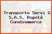Transporte Servi G S.A.S. Bogotá Cundinamarca