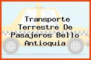 Transporte Terrestre De Pasajeros Bello Antioquia