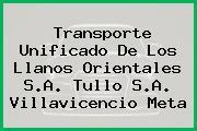Transporte Unificado De Los Llanos Orientales S.A. Tullo S.A. Villavicencio Meta