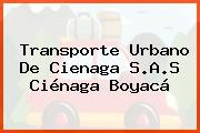 Transporte Urbano De Cienaga S.A.S Ciénaga Boyacá