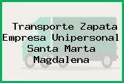 Transporte Zapata Empresa Unipersonal Santa Marta Magdalena