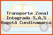 Transporte Zonal Integrado S.A.S Bogotá Cundinamarca