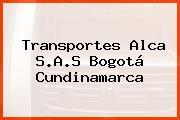 Transportes Alca S.A.S Bogotá Cundinamarca