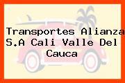 Transportes Alianza S.A Cali Valle Del Cauca