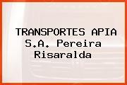 TRANSPORTES APIA S.A. Pereira Risaralda