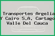 Transportes Argelia Y Cairo S.A. Cartago Valle Del Cauca