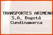 TRANSPORTES ARIMENA S.A. Bogotá Cundinamarca