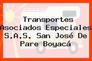 Transportes Asociados Especiales S.A.S. San José De Pare Boyacá