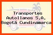 TRANSPORTES AUTOLLANOS S.A. Bogotá Cundinamarca