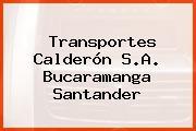 Transportes Calderón S.A. Bucaramanga Santander