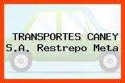 TRANSPORTES CANEY S.A. Restrepo Meta