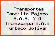Transportes Cantillo Pajaro S.A.S. Y O Transcanpa S.A.S Turbaco Bolívar