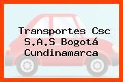 Transportes Csc S.A.S Bogotá Cundinamarca