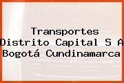 Transportes Distrito Capital S A Bogotá Cundinamarca