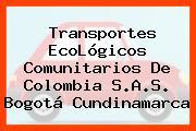 Transportes EcoLógicos Comunitarios De Colombia S.A.S. Bogotá Cundinamarca