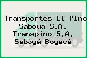 Transportes El Pino Saboya S.A. Transpino S.A. Saboyá Boyacá