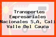 Transportes Empresariales Nacionales S.A. Cali Valle Del Cauca