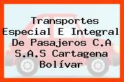 Transportes Especial E Integral De Pasajeros C.A S.A.S Cartagena Bolívar