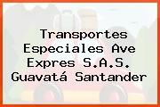 Transportes Especiales Ave Expres S.A.S. Guavatá Santander