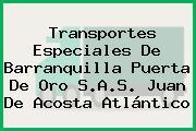 Transportes Especiales De Barranquilla Puerta De Oro S.A.S. Juan De Acosta Atlántico