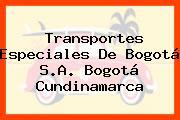 Transportes Especiales De Bogotá S.A. Bogotá Cundinamarca