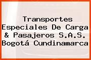 Transportes Especiales De Carga & Pasajeros S.A.S. Bogotá Cundinamarca