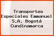 Transportes Especiales Emmanuel S.A. Bogotá Cundinamarca
