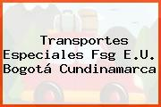 Transportes Especiales Fsg E.U. Bogotá Cundinamarca