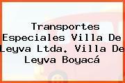 Transportes Especiales Villa De Leyva Ltda. Villa De Leyva Boyacá