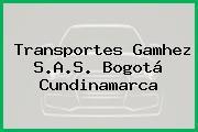 Transportes Gamhez S.A.S. Bogotá Cundinamarca