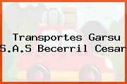 Transportes Garsu S.A.S Becerril Cesar