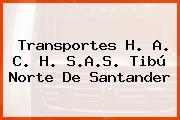 Transportes H. A. C. H. S.A.S. Tibú Norte De Santander