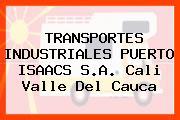 TRANSPORTES INDUSTRIALES PUERTO ISAACS S.A. Cali Valle Del Cauca