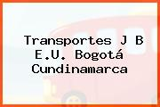 Transportes J B E.U. Bogotá Cundinamarca