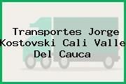 Transportes Jorge Kostovski Cali Valle Del Cauca